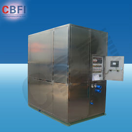 Chiny Cold Drink Shops Plate Ice Machine With PLC Central Program Control  fabryka