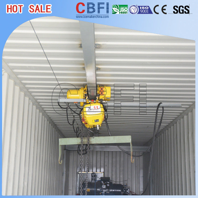 High Output Commercial Ice Block Maker Machine With 20 Ft 40 Ft Container