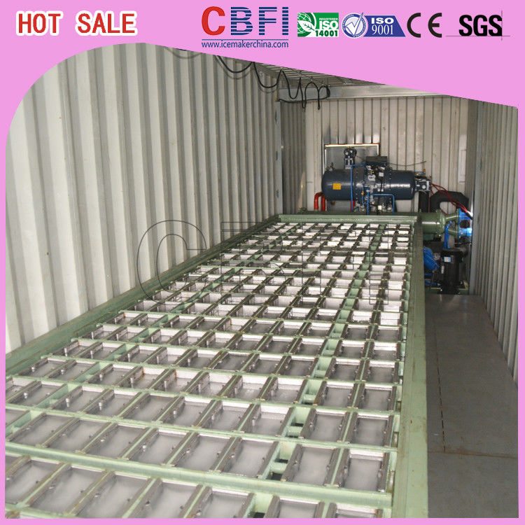 1 ~ 12 MT Daily Capacity Container Industrial Ice Block Making Machine For Supermarkets