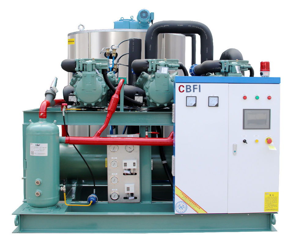 20 Tons Per Day Flake Ice Machine For Concrete Cooling PLC Controlling System